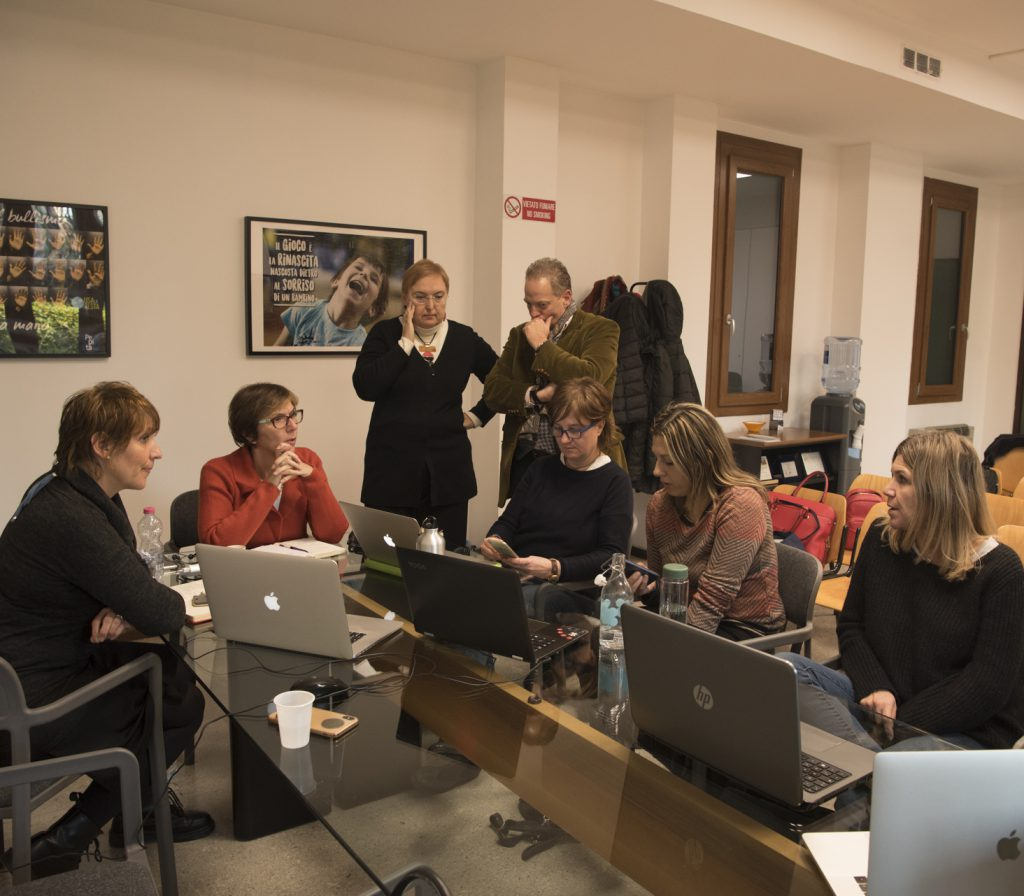 Gruppo di freelance al lavoro